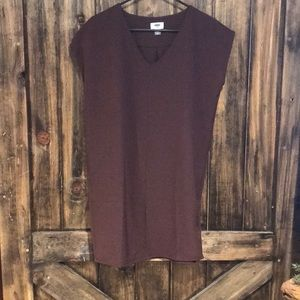 Old Navy Burgundy Cocoon Dress Size XSmall